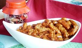 Ostrá sojovo - fazolová pánev