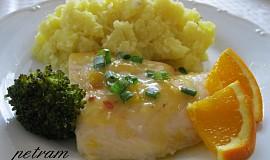 Pangas s pikantním pomerančovým přelivem