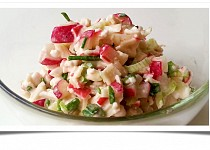 Ředkvičkový salát se šmakounem