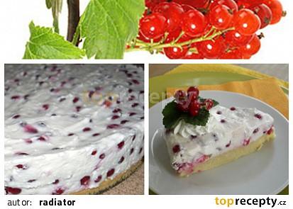 Rybízový tvarohový dort