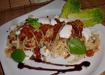 Špagety s letní drobenkou