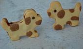Strakaté stojací sušenky s překvapením