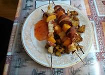 Špízy s pečeným bramborem