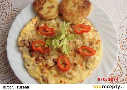 Zapečený květák jako omeleta