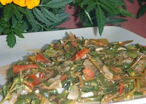 Dušená šrucha zelná - portulák (Portulaca oleracea)
