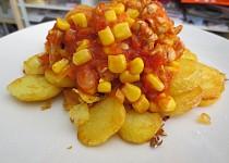 Krůtí maso s rajčaty a kukuřicí