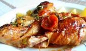 Kuřecí paličky na sušených rajčatech a tymiánu