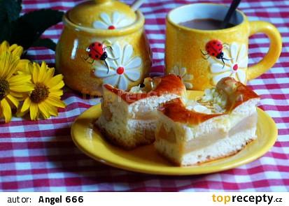 Kynutý koláč s jablky a pudinkem