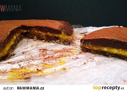 Mangový koláč s čokoládovou polevou