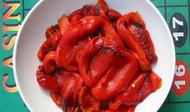 Papriky pečené, k dalšímu užití určené