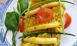 Rýže s červenou čočkou a fazolkami