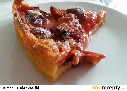 Šťavnatý švestkový koláč z jablíčkového těsta (Vyhovuje dietě dělená strava podle LK)