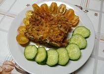 Zapečené těstoviny s masem a cuketou