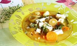 Zeleninová polévka s tofu