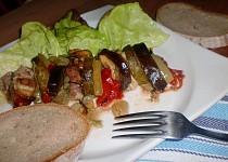 Bůček pečený se zeleninou