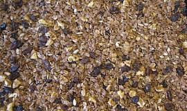 Domácí bezlepkové mussli s ořechy a datlovým sirupem