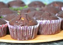 Kakaové muffiny s hruškami