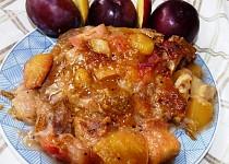 Kotleta v  pikantním ovocném rozvaru