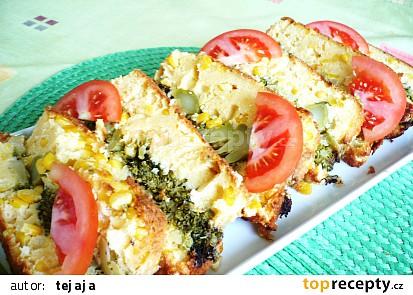 Kukuřičný nákyp s brokolicí