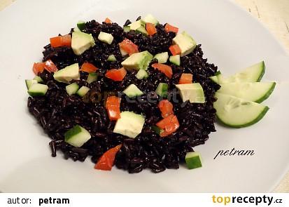 Salát z černé rýže s avokádem