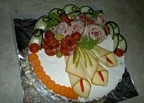 Slaný dort z aspiku