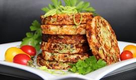 Sýrové placičky s pórkem a brokolicí