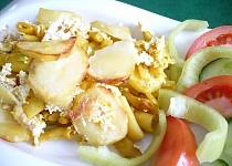 Brambory zapékané s tofu a fazolkami