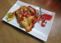 Cannelloni s mletým masem zapečené se sýrem