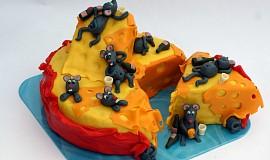 Dort Myší mejdan na bochníku sýra