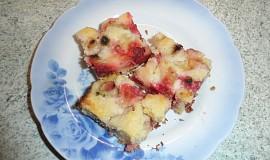 Křehký jahodovo-rebarborový koláč