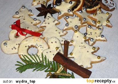 Mandlová vánoční kolečka a hvězdičky na stromeček