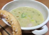 Pórková polévka se šunkou