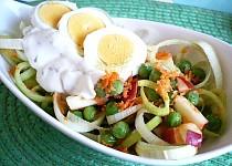 Pórkový salát s vajíčkem