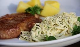 Přírodní krkovička s celerovou remuládou ( salátem )