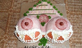 Slaný dort - prsa