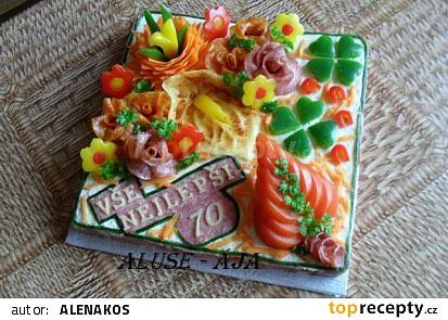 Slaný dort k 70 narozeninám