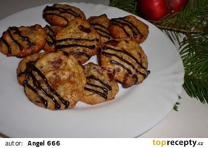 Sušenky s kandovaným zázvorem a kousky čokolády