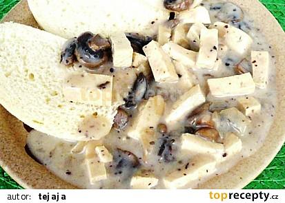 Tofu v žampionové omáčce