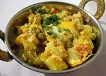 Vajíčkovo-hráškové kari