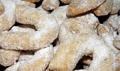 Vánoční cukroví - křehké vanilkové rohlíčky