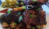 Bizoní žebra - marinovaná, pečená