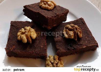 Cuketové brownies s kaštanovou moukou bez lepku, mléka a vajec