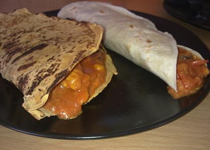 Hotové naplněné tortily