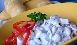 Fazolový salát se šunkou