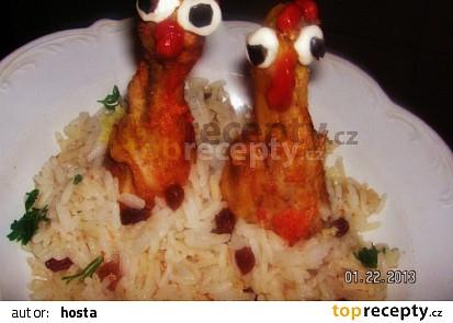 Indické kuře se šafránovou rýží