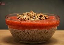 Jahodový pudink z chia semínek