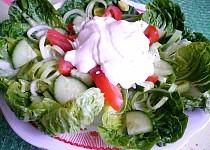 Ledový salát se zeleninou