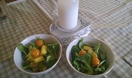 Polníčkový salát s ovocem
