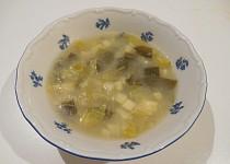 Pórková polévka bez lepku, mléka a vajec