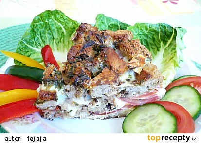 Rajčatovo - chlebový koláč
